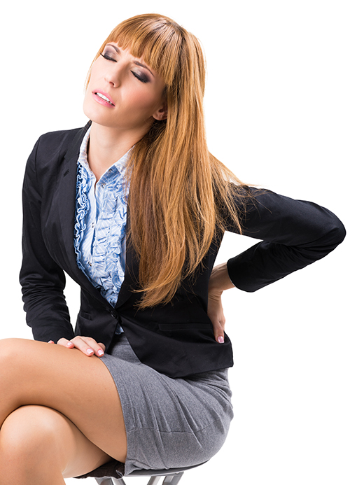 Work Injuries: Businesswoman hurt on the job now has Back Pain